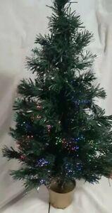 "Christmas Tree 32""Green Fabric Optic"
