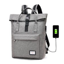Women Laptop Backpack Mens School Bag Large Capacity USB Charge Canvas Backpacks