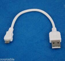 "10cm 4"" SHORT Micro USB Cable WHITE for LG V10 G4 G3 S G PRO 2 Flex Nexus 5 G2"