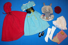 Vintage Barbie Little Red Riding Hood and the Wolf Complete Outfit #0880 880