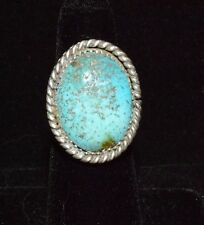 Ring Turquoise Mountain Native American Sterling Silver Navajo Size 6.5