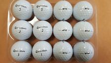 12 Used AAAA/Near Mint Condition Taylormade TP5 Golf Balls