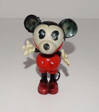 EX! DISNEY1930 MICKEY MOUSE HAND PAINTED&JOINTED CELLULOID FIGURINE+AUTH. LABELS