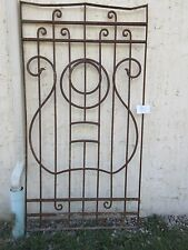 Antique Victorian Iron Gate Window Garden Fence Architectural Salvage #851