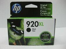 HP 920XL Black Ink CD975AN Genuine *** SHIPS OVERBOXED *** Date: March 2022
