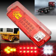 2x 19 LED Rear Tail Stop Indicator Light Lamp Truck Trailer Caravan Van Lorry