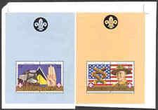 St. Lucia 1986 Scouts $4 SS proof PAIR w/ St. Vincent-1