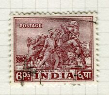INDIA;  1949 early Pictorial issue fine used 6p. value