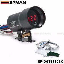 Black 37MM Digital Smoked Lens Exhaust Gas Temperature Gauge EGT Gauge