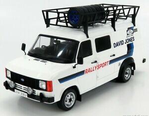 IXO 1/18 FORD TRANSIT MK2 DAVID JONES RALLY SPORT TEAM ASSISTANCE/SUPPORT 1979