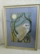 Robert J. Clitherow (b.1942) Pastel & Gouache Painting of a Barn Owl