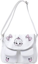 78104 Doll Baby Nomad Purse White Diaper Bag Retro 50s Pinup Rockabilly Sourpuss