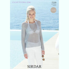 Double knit crochet pattern Sirdar 7239 - Lady's Top 81 - 107 cm/32 - 42""