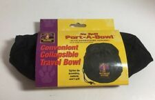 Outward Hound Port-A-Bowl Collapsible Black Travel Food and Water Hiking Camping