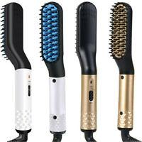 Beard & Hair Straightener for Men Multifunctional Beard Comb Electric Brush New