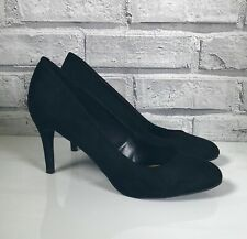 New Look Black Faux Suede Party Court Shoes Size UK 6