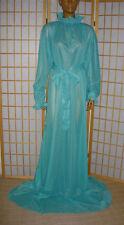 ADULT Nylon Kleid Baby Dienstmädchen kleid Maid Transperant Stof turkis