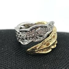 Chloe and Isabel Two-Tone Feather Wrap Ring R039T Size 6 Gold and Silver