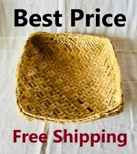 Sri Lankan Handmade Reed Basket Home Bowl Fruit Reusable New Free Shipping