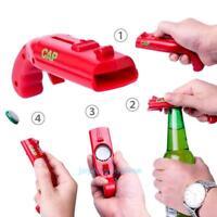 Portable Creative Flying Cap Beer Drink Bottle Opener Launcher Shooter Bar Tool