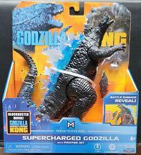 Monsterverse Supercharged Godzilla w/Fighter Jet Godzilla vs Kong 2021 MINT RARE
