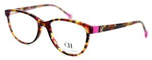 CAROLINA HERRERA VHE678K 01GQ Havana Lilac Oval Womens Eyeglasses 52-17-135