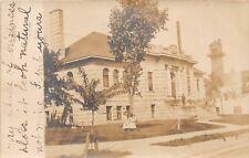 D48/ Chippewa Falls Wisconsin Wi Postcard Real Photo RPPC 1907 Post Office