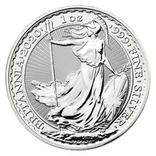 2020 Britannia One Ounce Solid Silver Coin.Brand New & Uncirculated..No Reserve