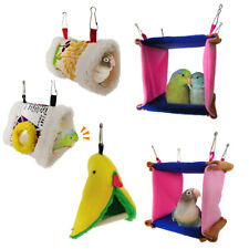 KE_ Triangle Square Plush Nest Bird Parrot Hanging Cave Hammock Cage Bed Toy C