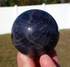 Big Premium BLUE IOLITE Crystal Sphere Ball THIRD Eye Activator Aura Stone