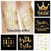 GOLD BRIDE TRIBE TEMPORARY TATTOOS, TEAM BRIDE TATTOO, FUN HEN DO PARTY GIFT