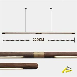 Light Strip Hanging Pendant Modern Home Dining Room Ceiling Wood Fixture Lamp
