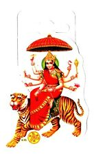 Traditional Ambe Maa Paper Adhesive Sticker – Hindu Religious Sticker