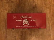 Vintage Toy -- Tin -- American Tool Chest --- for Junior -- Carpenters Carpenter