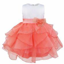 Infant Baby Girl Organza Tutu Dress Princess Baptism Party Gown Bridesmaid Dress