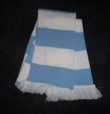 BABY BLUE AND WHITE SCARF