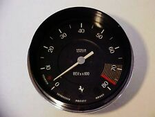 Ferrari 365 Engine Tachometer Gauge 330 GTB/4 Daytona Veglia_Chrome Bezel OEM