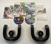 Xbox 360 2x Wireless Speed Wheel 1470 + Need For Speed Hot Pursuit Rivals LOT!!