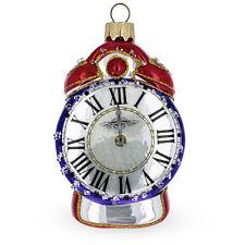 Alarm Clock Glass Christmas Ornament