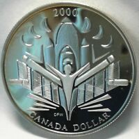 2000 CANADA UNC PROOF SILVER ONE DOLLAR Coin - Voyage of Discovery