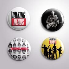 4 TALKING HEADS DAVID BYRNE -  Pinbacks Badge Button 25mm 1''..
