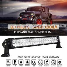 "Philips 24inch LED WORK LIGHT BAR SPOT/FLOOD COMBO OFFROAD 20"" 22"" Plug and play"