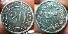 UMBERTO I 20 Centesimi 1895 Raro FDC Eccezionale con fondi lucenti.