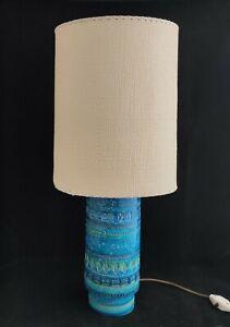 Bitossi Italian Rimini Blue Retro Lamp Aldo Londi (Q0121)