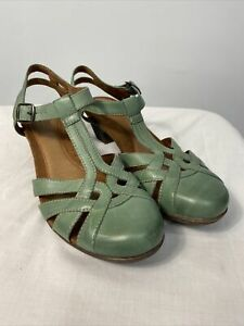Rockport Cobb Hill Aubrey Leather Shoes Women's 10 Green