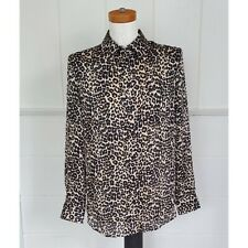 Equipment Femme Leopard Button Down Collared Blouse