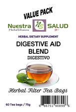 Digestive Tea Herbal blend Filter Tea Value Pack (60 tea bags) Digestivo Te
