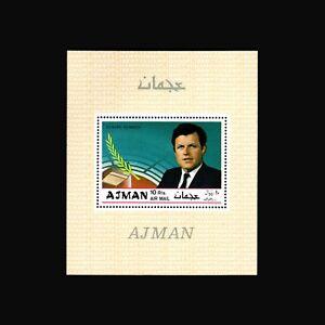 Ajman, 1969, BL124A, MNH, S/S, Edward Kennedy, A350SID-A