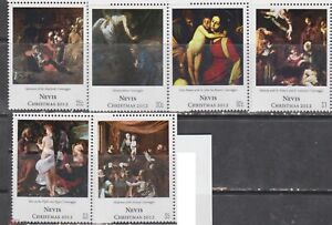 Nevis 2012 art paintings christmas  Correggio set MNH