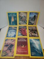 Lot of 9 National Geographic Magazines w/ Maps & 3D glasses 96-99 Return to Mars